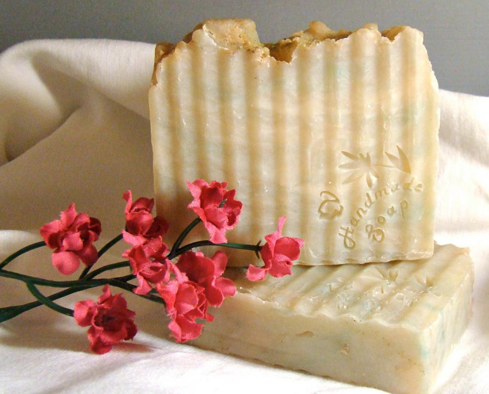 Handmade Hot Process Sage and Citrus type shea butter soap 5-6oz